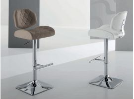 Stool in faux leather Rex