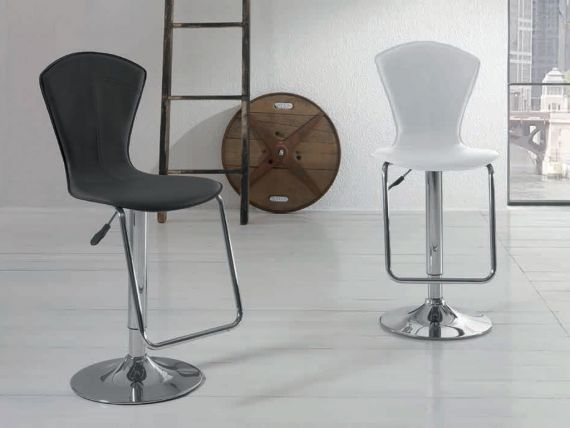 Funky ecoleather stool leather effect