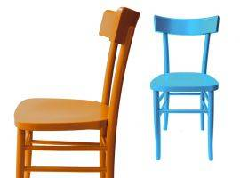 Chair in painted wood Milano