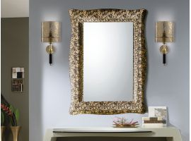 Mirror in curved glass Arabesco