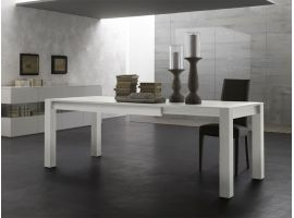 Extendible table in solid wood from spruce Park