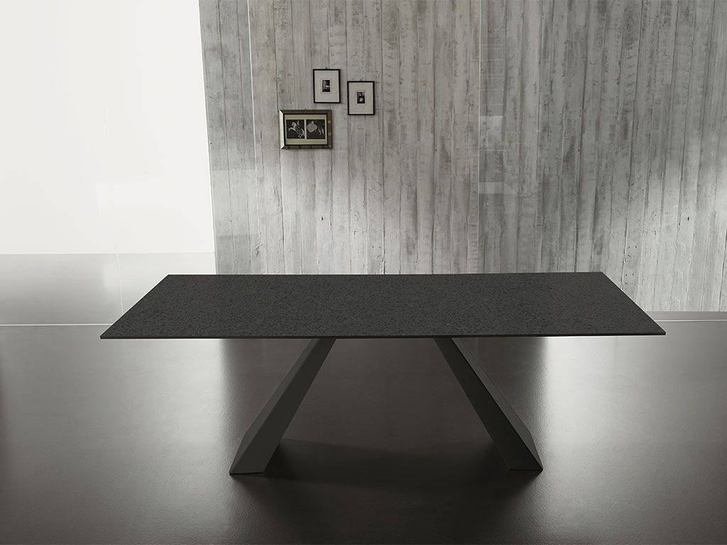 table in glass with structure in metal vanity. Black Bedroom Furniture Sets. Home Design Ideas