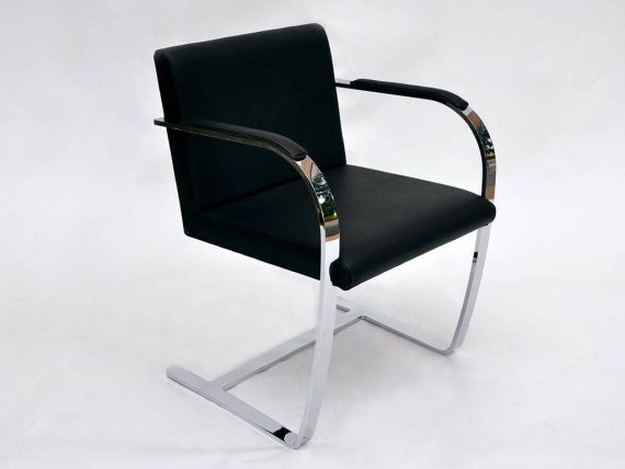 BRNO leather armchair and flat structure