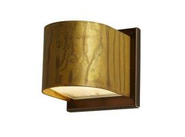 Applique lamp in oxidized brass with plate Lola Tonda B