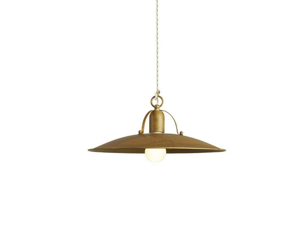 Hanging Lamp In Brass Osteria