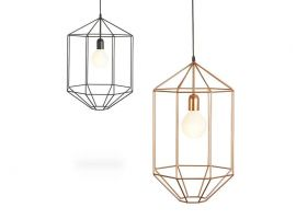 Hanging lamp in steel Lori