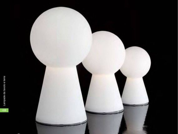 Birillo TL1 Small table lamp in white glass