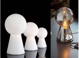 Birillo TL1 Small lampe de table en verre blanc