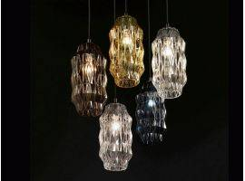 Hanging lamp in glass Origami