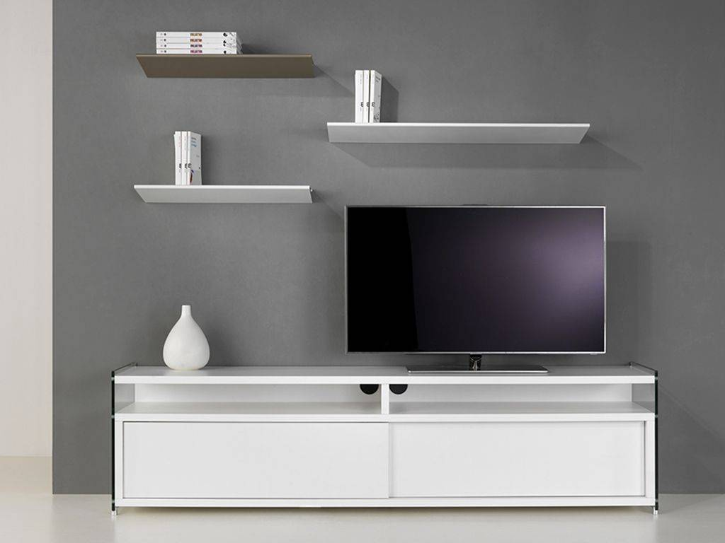 meuble tv en verre et bois media. Black Bedroom Furniture Sets. Home Design Ideas