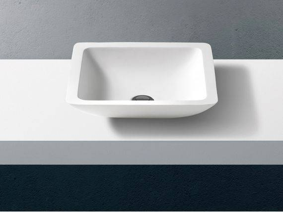 Square countertop washbasin Thermae