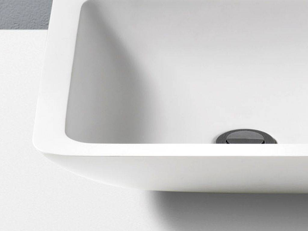 Betacryl Pure Acrylic Stone square countertop washbasin in betacryl solid surface thermae