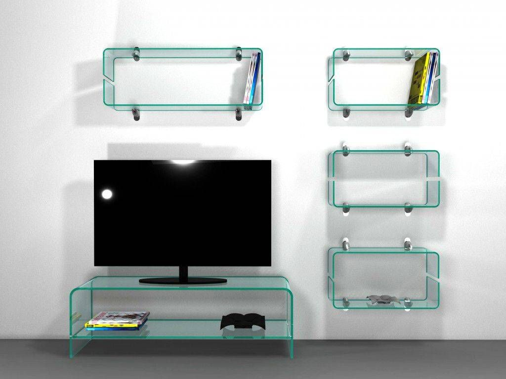 Curved Glass Tv Stand Tango # Table Tv En Verre Design