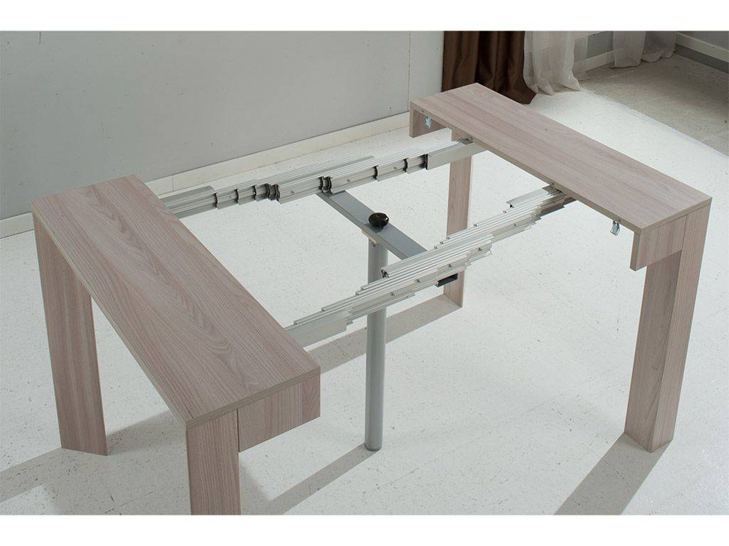 Table console rallonges magic delta 47x90 297x90 cm - Table a rallonge console ...