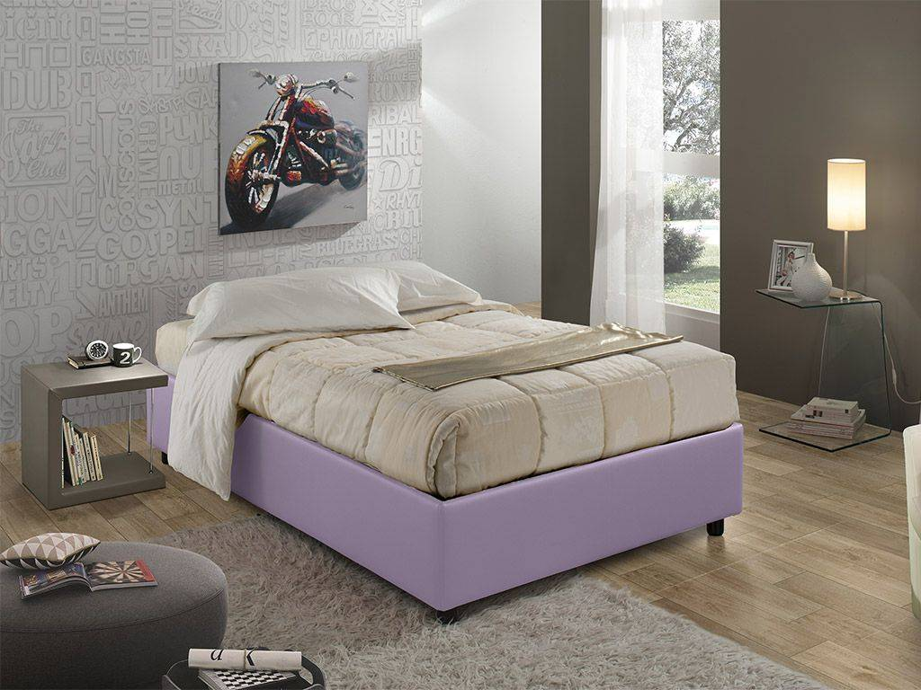 sommier 120 upholstered bed with container. Black Bedroom Furniture Sets. Home Design Ideas