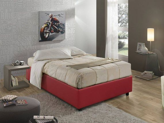 Sommier letto 120 imbottito in Ecopelle
