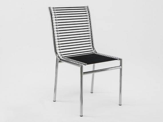 René Herbst 303 chair with metal structure with elastic strings