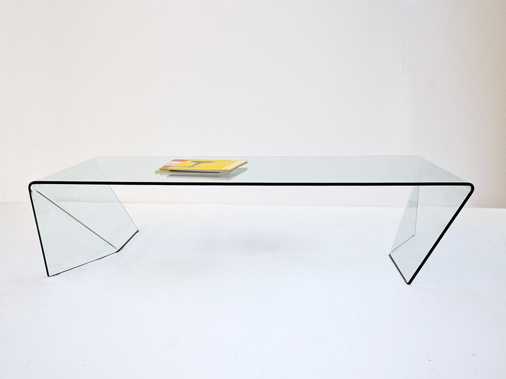 Folder Curved Glass Coffee Table