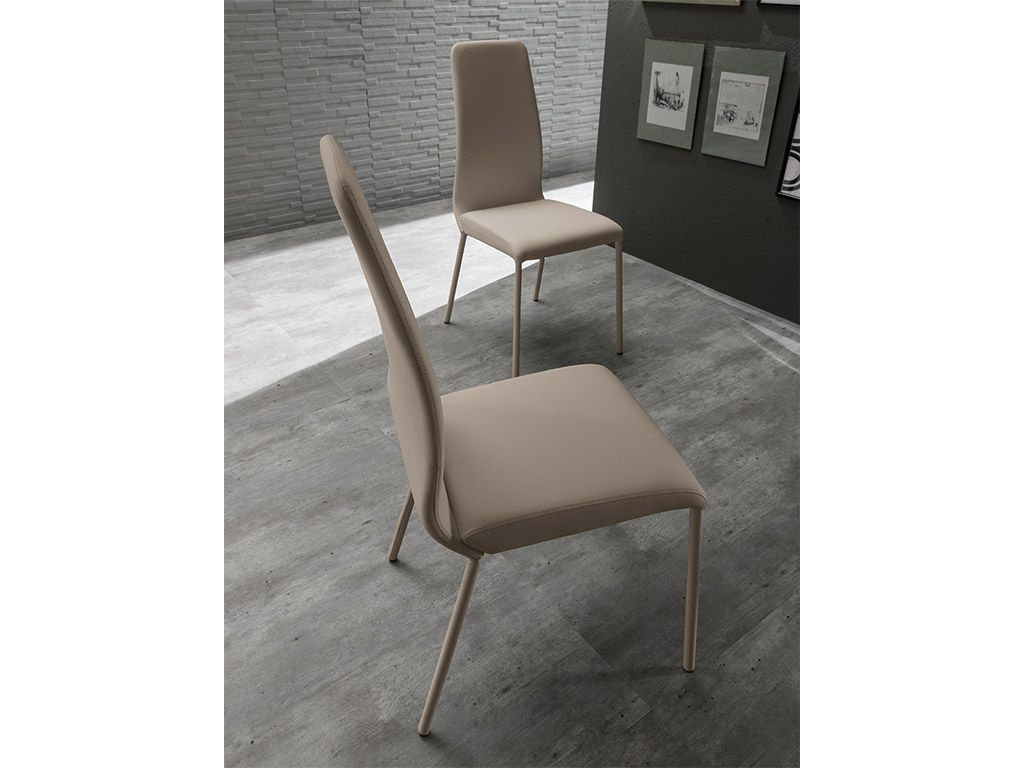 Space upholstered chair in ecoleather - Upholstered chairs for small spaces concept ...