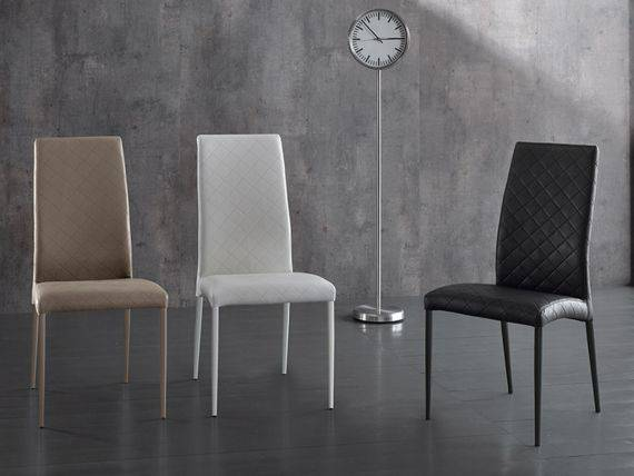 Song upholstered chair in printed leatherette