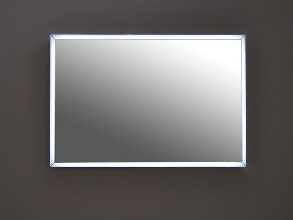 Rectangular mirror with led backlit Fashion