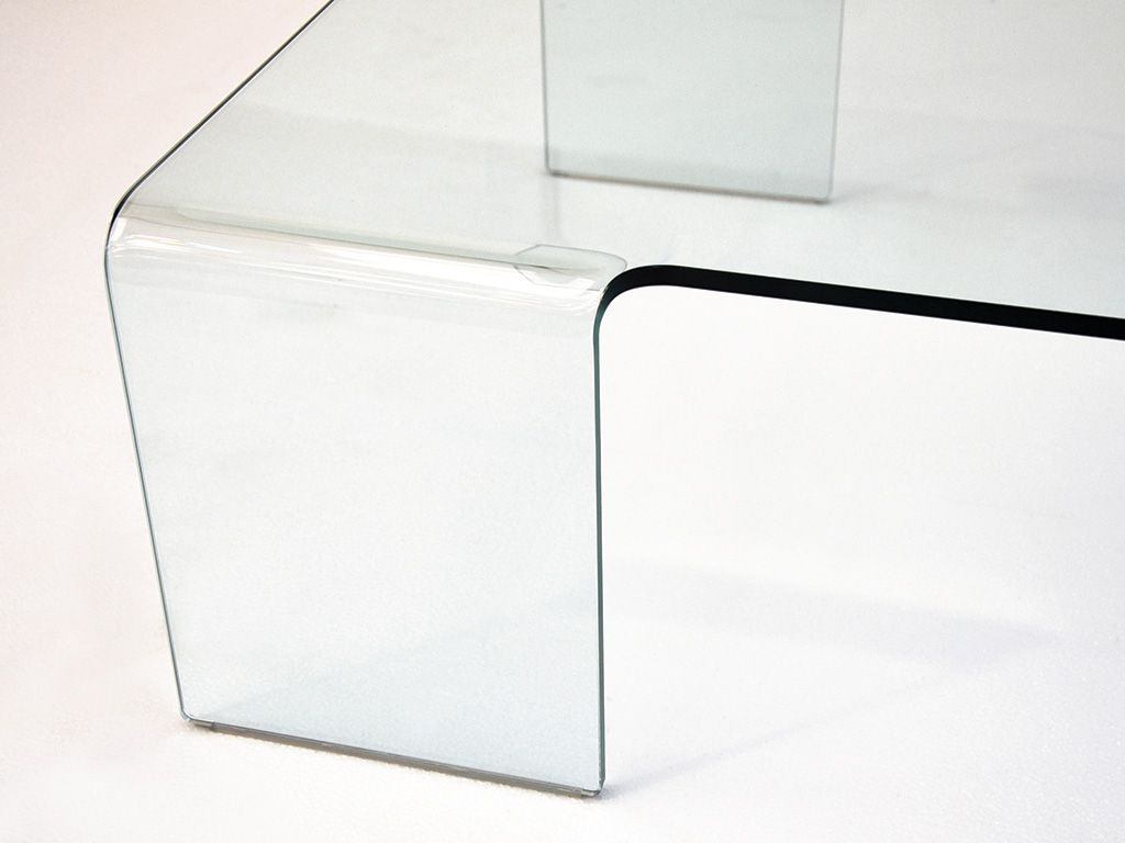 Coffee Table In Curved Glass Linear