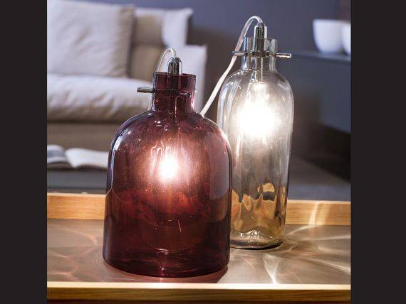 LED table lamp in blown glass Bossa Nova