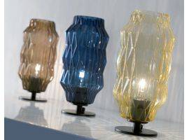 Table lamp in blown glass Origami