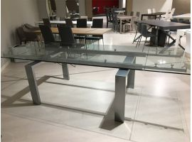 Extending table Glass Metallo