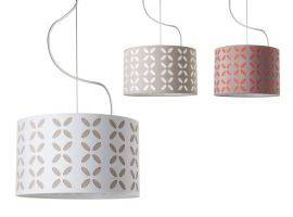Hanging lamp with perforated lampshade Farfalla