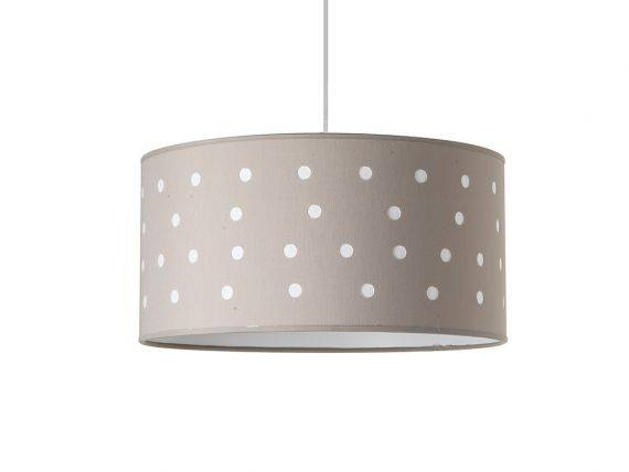 Hanging lamp with colored perforated lampshade Pois