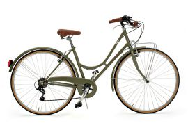 Woman vintage city bike Condorino 601