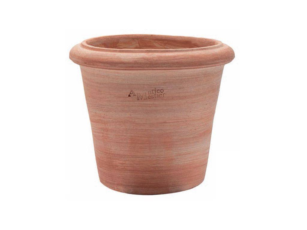 Montelupo smooth cylinder terracotta pot for Vasi in terracotta economici