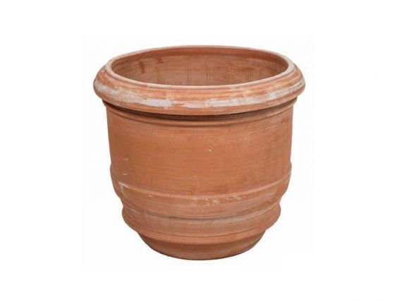 Smooth barrel pot 013 terracotta pot