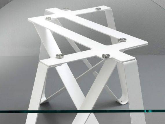 Metal and Glass Design table Axel