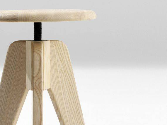 Stool With Adjustable Seat Tommy