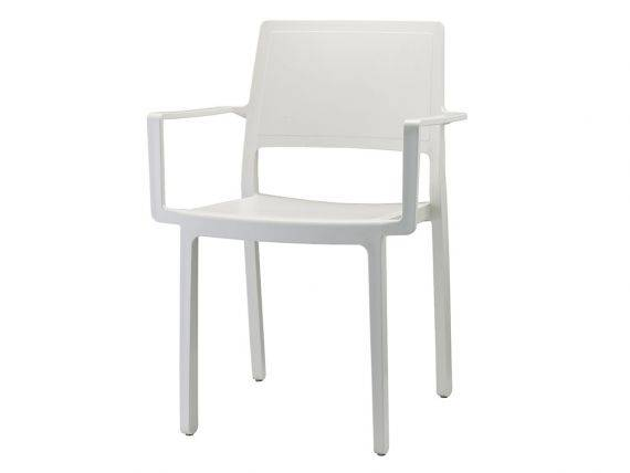 Kate plastic chair with armrests