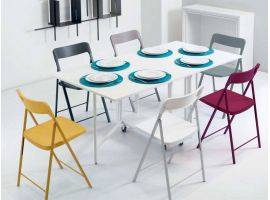 Consolle with table and 6 chairs Archimede