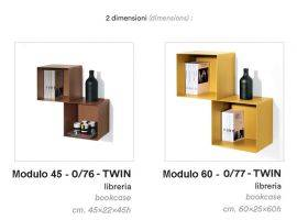 Twin Modular Bookcase
