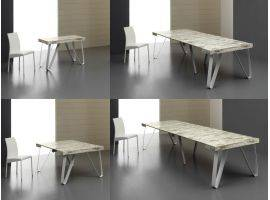 Metal and Wooden Design table-consolle Axel 190