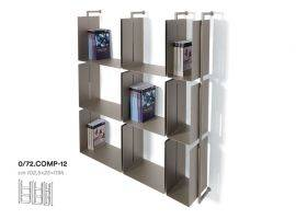 LIBERA Metal modular Wall-Mounted bookcase with Boxes