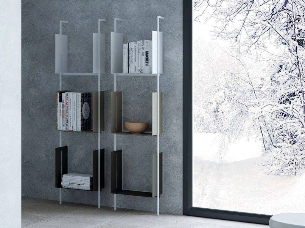libera modulares b cherregal metall boden mit beh ltern. Black Bedroom Furniture Sets. Home Design Ideas