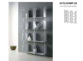 LIBERA Metal modular Floor-Mounted bookcase with Boxes