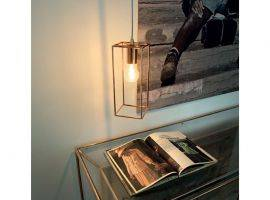 Hanging lamp with metal and copper structure Volt