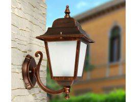 Wall outdoor lamp with aluminium and satin glass structure Athena