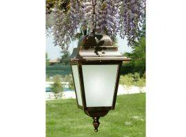 Hanging lantern with aluminium and glass structure Athena