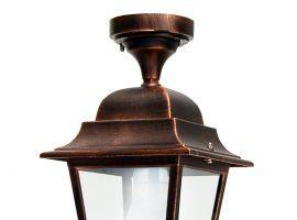 Outdoor lantern with aluminium and glass structure Athena