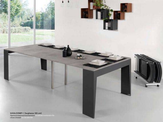 Extendible table–consolle in metal MARVEL