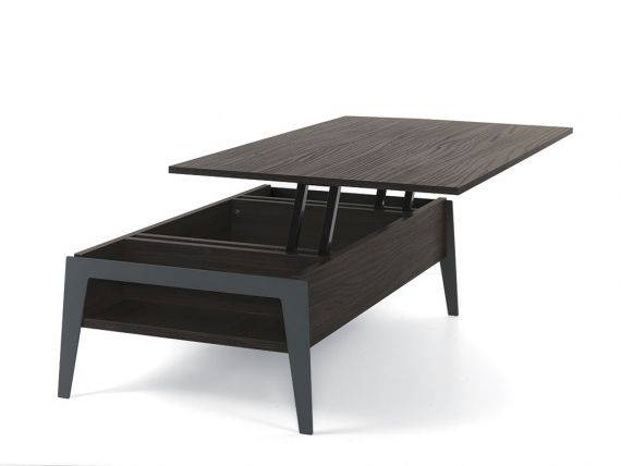 table basse rectangulaire 130 avec plateau relevable brighton. Black Bedroom Furniture Sets. Home Design Ideas