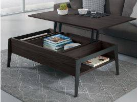 Table basse rectangulaire 130 avec plateau relevable Brighton